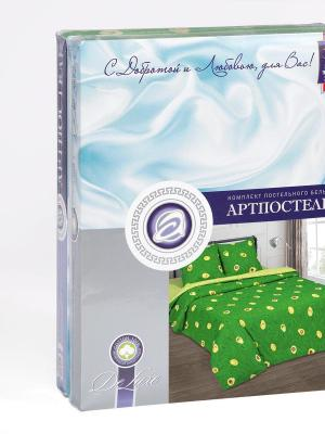 """Постельное белье поплин 2 спальное с европростыней """"Амиго"""" АртПостель"""