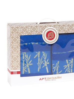 "Набор полотенец из махры ""Бамбук (ярко-синий)"" АртДизайн"