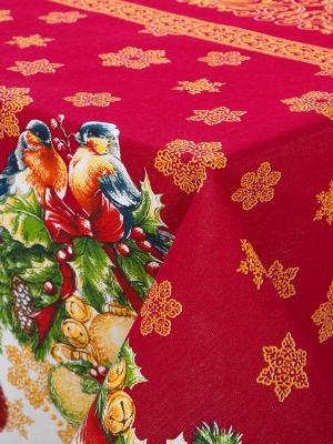 """Скатерть из рогожки 150x145 """"Рождество"""" АртДизайн"""