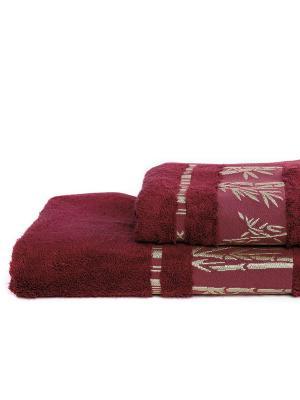 "Набор полотенец из махры ""Бамбук (бордо)"" АртДизайн"