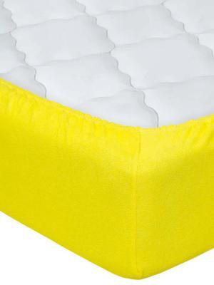 """Простынь на резинке махра 60x120x10 """"Лимон"""" АртПостель"""