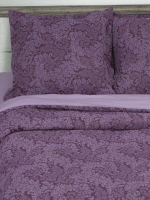 """Постельное белье на резинке поплин 2 спальное """"Вирджиния (фиолетовый)"""" АртПостель"""